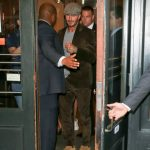 David Beckham In Saint Laurent boots  Out In New York