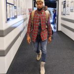 Odell Beckham Jr.  in  Givenchy Tee  & Amiri Plaid Shirt