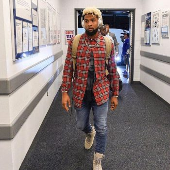 Odell-Beckham-wearing-Amiri-Plaid-Shirt-and-Jeans-with-a-Givenchy-Tee-and-Fear-of-God-Military-Sneakers