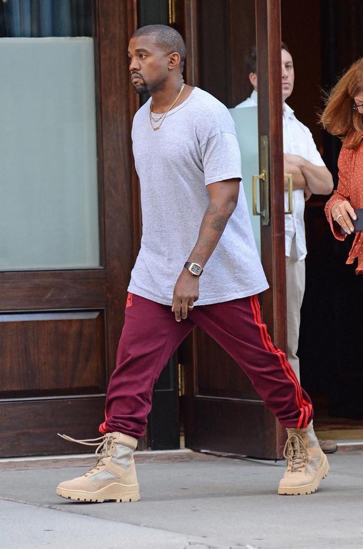 kanye-west-in-adidas-yeey-season-4-calabasas-sweatpants-yeezy-military-boots