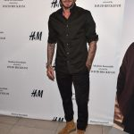 David Beckham In  H&M & Saint Laurent AT  H&M Launch