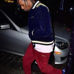Travis Scott  In  Vetements Sweatpants and Air Jordan Sneakers