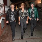 Brandon Thomas Lee, Gabriel-Kane Day-Lewis, and Presley Gerber In Dolce& Gabbana arrive in Capri