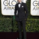 Eddie Redmayne  In   Prada  At 2017 Golden Globe Awards