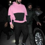 Drake In Cav Empt  Hoodie, Stone Island Pants & Nike Sneakers  – Out In LA