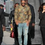 Future In Amiri Camo Jacket  And  Saint Laurent Jeans  – Out In LA
