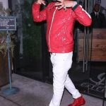 French Montana  In Burberry Jacket, Android Homme Sneakers