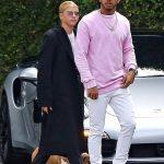 Lewis Hamilton In Illusive London Sweatshirt  & Adidas Yeezy 350 Boost Sneakers