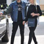 Anwar Hadid In  Guess Denim  & Saint Laurent – Beverly Hills
