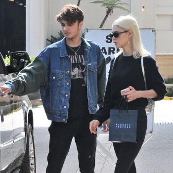 Anwar-Hadid-Nicola-Peltz-Guess-denim-jacket