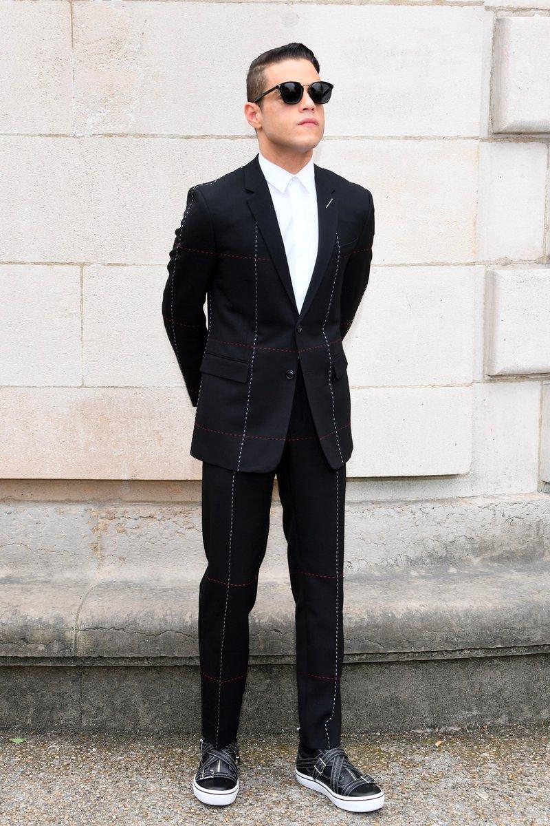 b29712d7e660 Rami Malek in Dior Homme – Dior Homme Menswear Spring Summer 2018 show