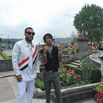 French-Montana-Swae-Lee-Thom-Browne-jacket-sneakers (1)