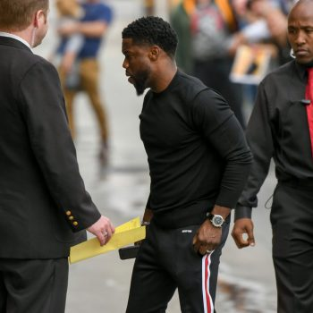 Kevin-Hart-Prada-sweater-Givenchy-pants-sneakers