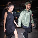 The Weeknd In Alpha industries &  Puma Sneakers – Out In  new York