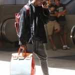 Travis Scott In Alchemist Trousers  & Hermes Bag – LAX