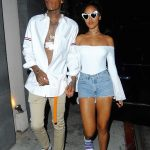 Wiz Khalifa  In  Thom Browne leaving Nobu