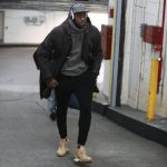 LeBron James  In  Louis Vuitton – Cavaliers vs Knicks Game