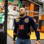 Conor McGregor Arrives  In Alexander McQueen sweater  For Training Session