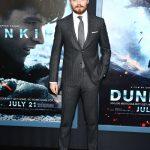 Jack Lowden In Grey Suit  Dunkirk' in New York Premiere