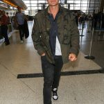 Orlando Bloom  In Supreme x Louis Vuitton  Jacket –  LAX