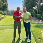 Stephen Curry in Under Armour – Golfing  with Ray Allen in Nike