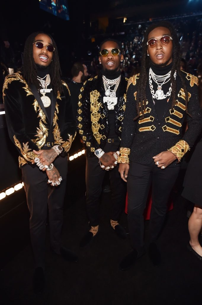 quavo-offset-takeoff-from-migos-in-julien-macdonald-2018-grammy-awards