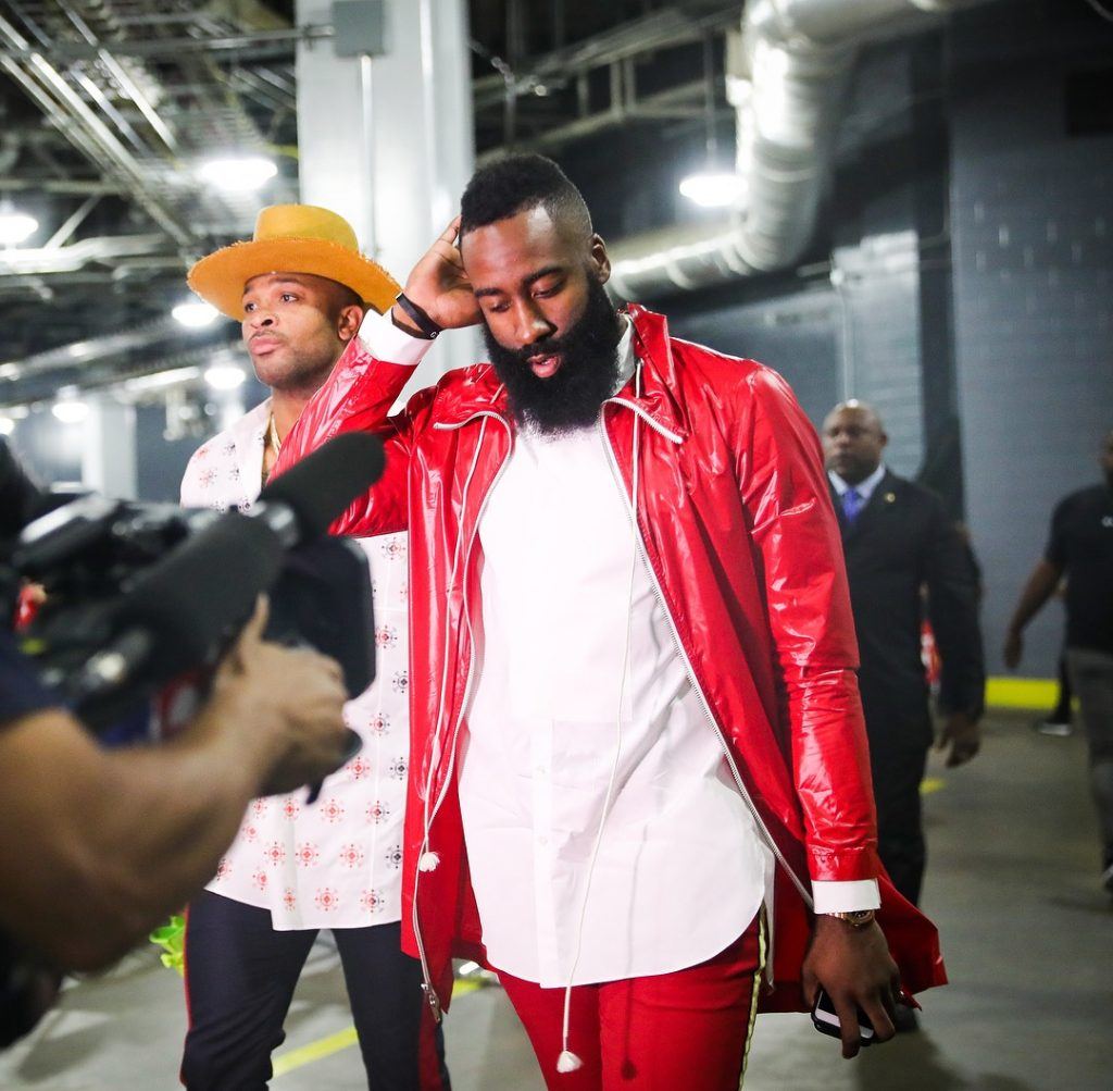 Rockets Vs Warriors Uverse: James Harden In Calvin Klein @ Rockets Vs Warriors Game 7